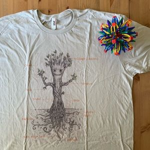 NWOT Light Grey Tee: Groot Tree Diagram